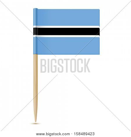 Botswana Flag. Flag toothpick on white background 10eps