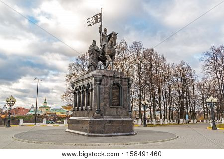 Vladimir, Russia - November 05.2015. The monument to a St. Prince Vladimir and Fedor