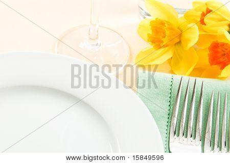 Fresh Yellow Table Setting