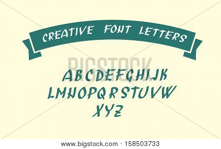 Uppercase english alphabet letters. Handwritten font character symbols. Vector illustration. Creative Letters for your design ideas.