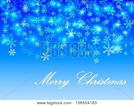 Abstract vector christmas background with snowflakes. Vector illustration