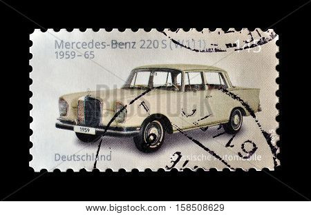 GERMANY - CIRCA 2016 : Cancelled postage stamp printed by Germany, that shows old car.