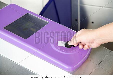 Using RFID token to open Metro system gate