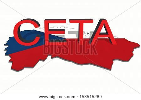 Ceta - Comprehensive Economic And Trade Agreement On Czech Republic Map
