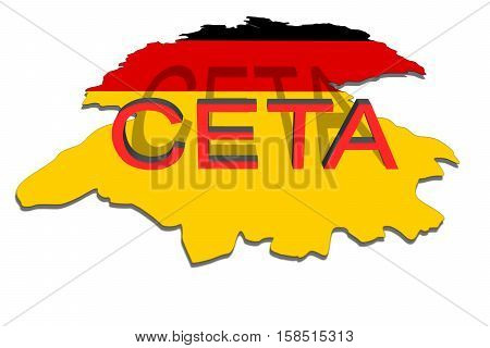 Ceta - Comprehensive Economic And Trade Agreement On  Germany  Map