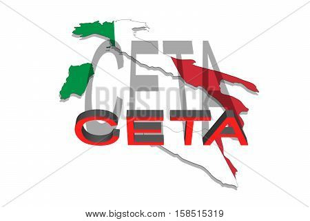 Ceta - Comprehensive Economic And Trade Agreement On  Italy Map
