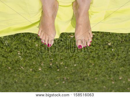 Barefoot woman feet. Feet with good looks.