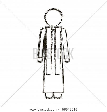 Pastor icon. Religion god pray faith and believe theme. Isolated design. Vector illustration