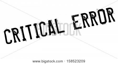 Critical Error Stamp