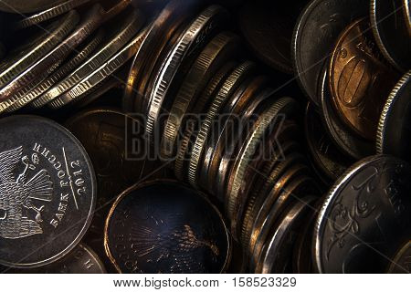 unnecessary metal coins is heaped because of inflation and low purchasing power
