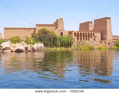Philae Egyptian Temple On An Island On The Nil, Assouan, Egypt