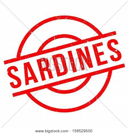 Sardines Rubber Stamp
