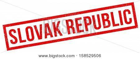 Slovak Republic Rubber Stamp