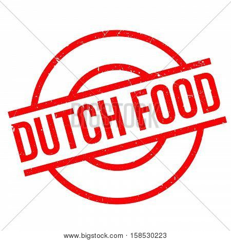 Dutch Food Rubber Stamp