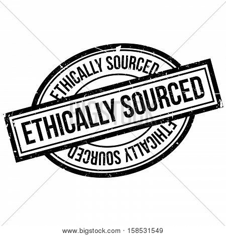 Ethically Sourced Rubber Stamp