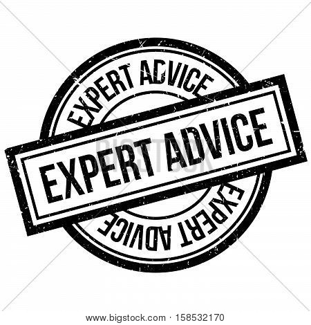 Expert Advice Rubber Stamp