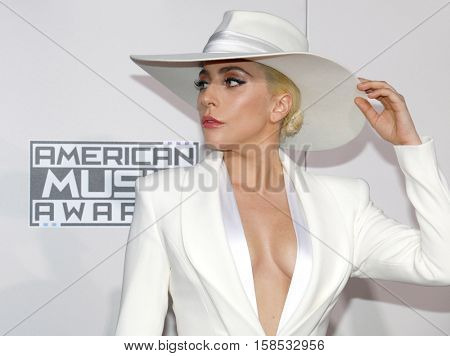 Lady Gaga at the 2016 American Music Awards held at the Microsoft Theater in Los Angeles, USA on November 20, 2016.