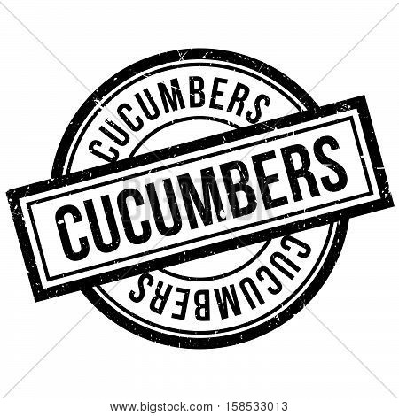 Cucumbers Rubber Stamp