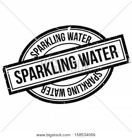 Sparkling Water Rubber Stamp