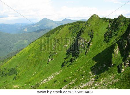 view of Carpathian mountain