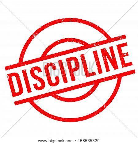 Discipline Rubber Stamp
