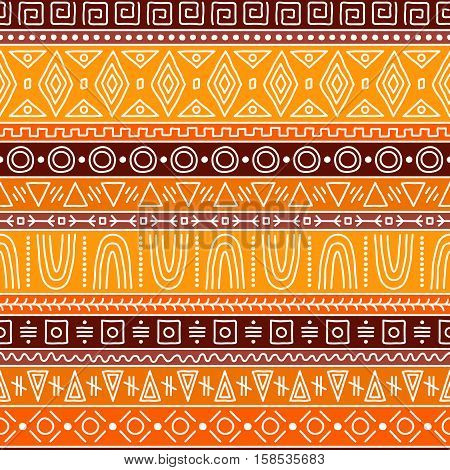 Seamless pattern in African style. Bright, interesting ethnic pattern.
