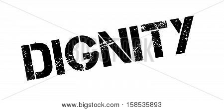 Dignity Rubber Stamp