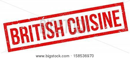 British Cuisine Rubber Stamp