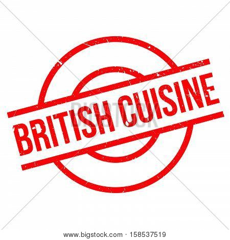 British Cuisine Rubber Stamp