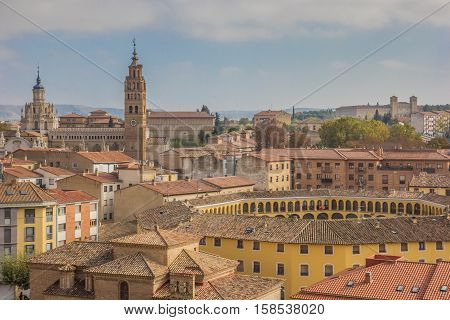 Cityscape With The Cathedral And Bullring Of Tarazona