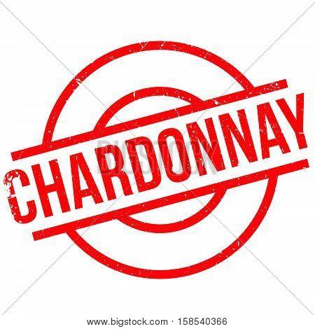 Chardonnay Rubber Stamp