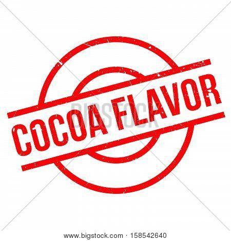 Cocoa Flavor Rubber Stamp