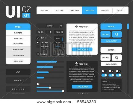 Vector UI web kit template set collection