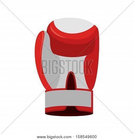 Boxing Glove Red. Accessory For Boxer. Sports Equipment