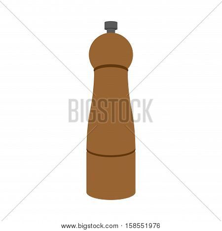 Pepperbox Pepper Mill Isolated. Accessory For Spices. Cutlery To Eat On White Background