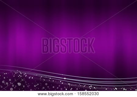 Abstract purple background with the light lines at the bottom - illustration