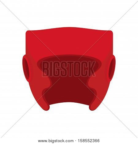 Boxing Helmet Red. Boxer Mask Isolated. Spor Accessory For Training