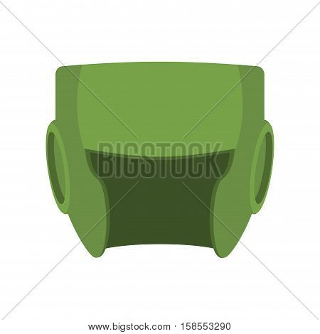 Boxing Helmet Green. Boxer Mask Isolated. Spor Accessory For Training