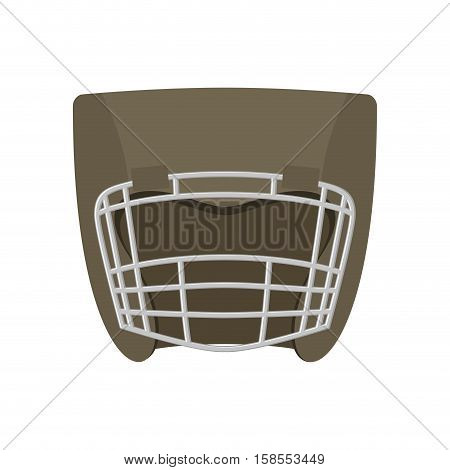 Boxing Helmet Gray. Boxer Mask Isolated. Spor Accessory For Training