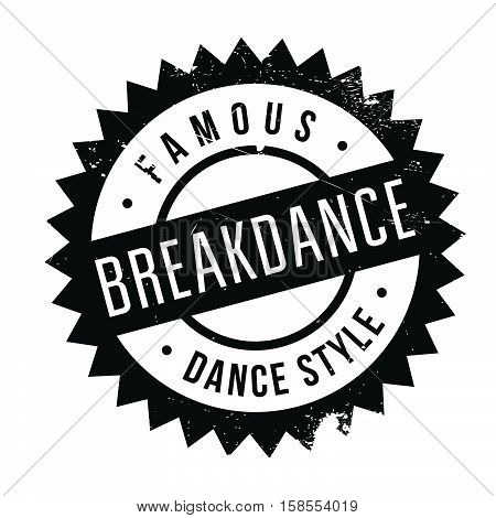 Famous Dance Style, Breakdance Stamp