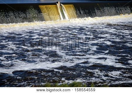 Waterfall at the Ford Dam in Minneapolis, Minnesota