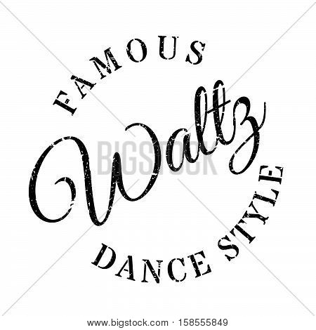 Famous Dance Style, Waltz Stamp