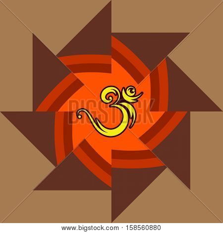 Aum (Om) The Holy Motif Vector Illustration