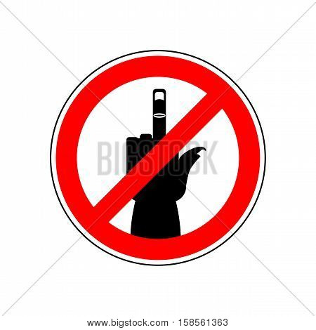 Stop Cad Sign. Ban Fuck. Red Prohibition Symbol. You Can Not Swear