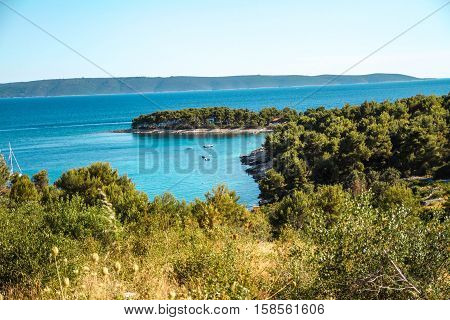 Trogir, Ciovo, Bucht, Camping, Wald, Meer, Adria