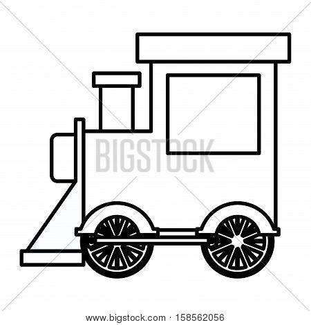 silhouette locomotive toy flat icon vector illustration