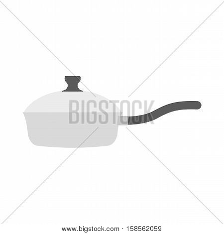 Roaster Pan Isolated. Kitchen Utensils On White Background. Cookware For Frying Food