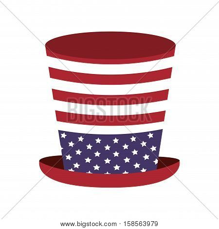 Uncle Sam's hat celebration icon vector illustration