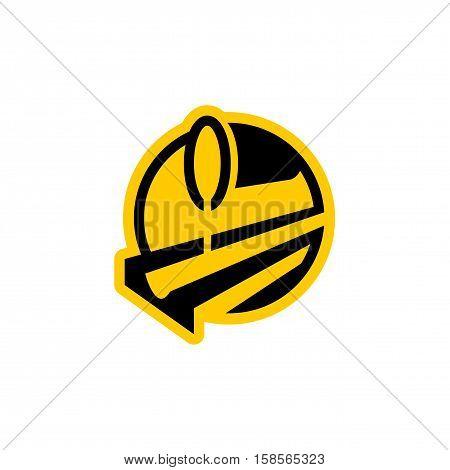 Metallurgy Logo. Steel-furnace Symbol. Melting Metal Emblem. Heavy Industry Sign