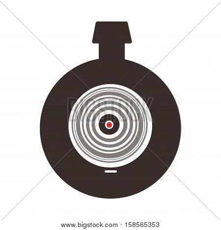 black silhouette of infrared viewfinder vector illustration